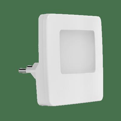 Luz Noturna Led Quadrada 0,5w Bivolt 3000k Luz Branca Quente Com Sensor de Presença 432624 Brilia