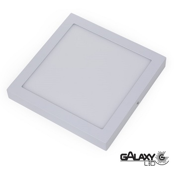 PAINEL DE LED DE SOBREPOR 24W 30X30CM BRANCO BIVOLT QUADRADO - 140114024 - GALAXY