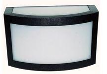 Arandela Policarbonato Pequena Para 1 Lampada E27 Preta 4236 PT Lustres Ideal