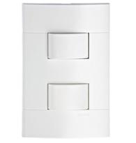 Conjunto Com 2 Interruptores Simples Separados Com Placa Branco - Prm 43141 - Schneider - Prime Lunare