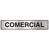 Placa de Aviso Comercial 5x25CM - C05107 - Indika
