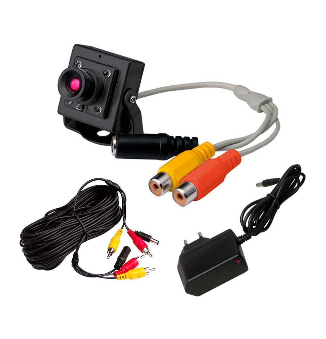 Kit camera de vigil ncia para tv com udio colorida pt - Camera de vigilancia ...