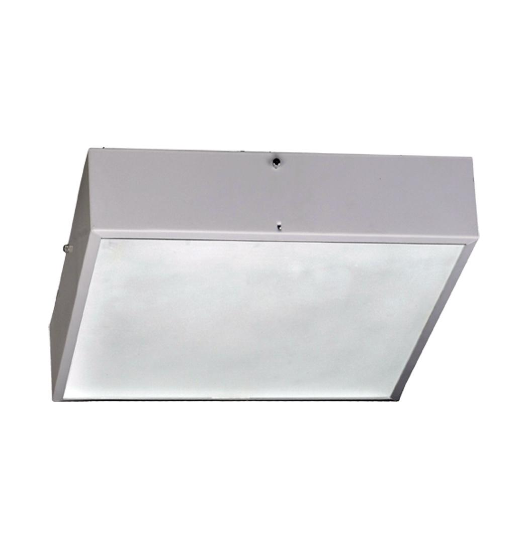 Plafon Quadrado de Alumínio Para 3 Lâmpadas E27 com Vidro 100%  #57514C 1050x1092 Acessórios Banheiro Quadrado