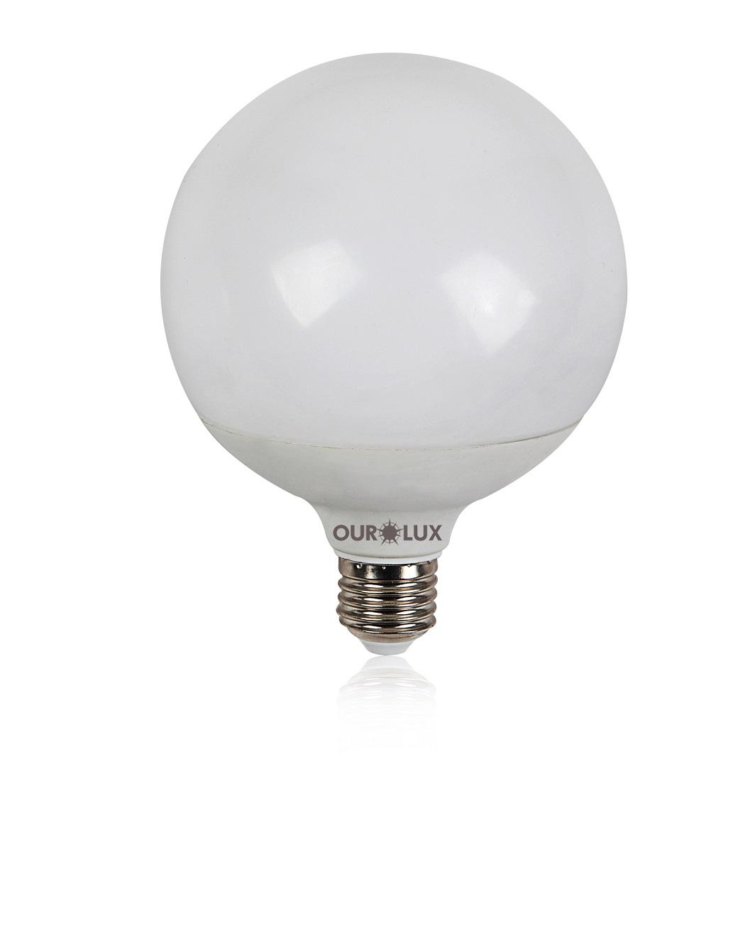 Lampada led globo 12w bivolt 2700k branca quente luz for Lampada globo