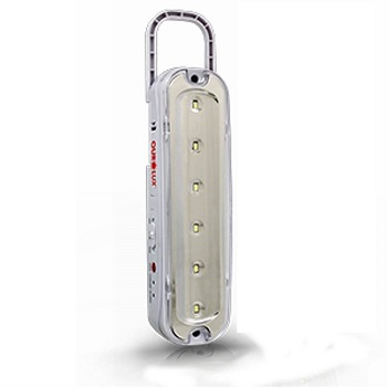 Luminária de Emergência 6 Leds Com Pilha e Alça 1w Bivolt Luz Branca Fria (branca) - 01981 - Ourolux