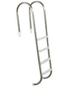 Escada Marinheiro em Aço Inox 4 Degraus Anatômicos em Inox