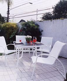 Poltrona Ibiza Alumínio Branco Tela Branca