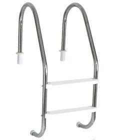 Escada Tradicional 1 1/2´´ em Aço Inox 2 Degraus Anatômicos em ABS