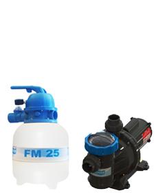 Filtro FM-25 e Bomba 1/4cv BM-25 p/ piscinas de até 19 mil litros