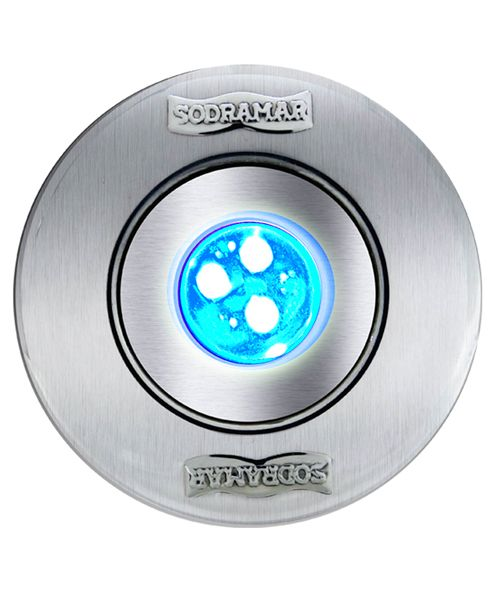 Hiper led 9w RGB corpo ABS / frontal INOX p/ até 14m²