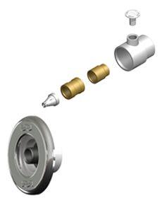 Dispositivo de Hidromassagem ABS/Inox Pratic 1 1/2´´ para Piscinas de Alvenaria (tubo de 60)