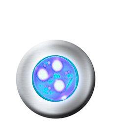 Hiper led 9w latão Monocromático Azul p/ até 18m²