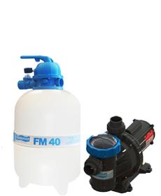 Filtro FM-40  e Bomba 1/2cv BM-50 Mono p/ piscinas de até 50 mil litros