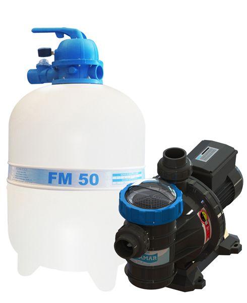 Filtro FM-50 e Bomba 3/4cv BMC-75 Mono p/ piscinas de até 78 mil litros