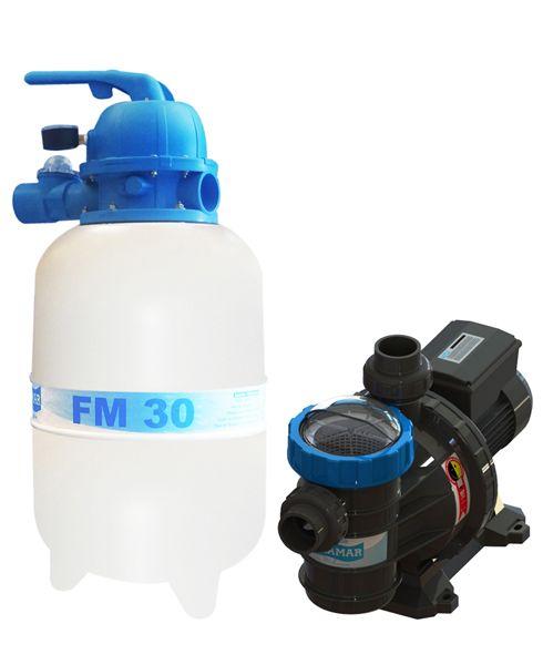 Filtro FM-30 e Bomba 1/4cv BMC-25 Mono p/ piscinas de até 28 mil litros