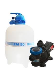 Filtro FM-50  e Bomba 3/4cv BM-75 Mono p/ piscinas de até 78 mil litros