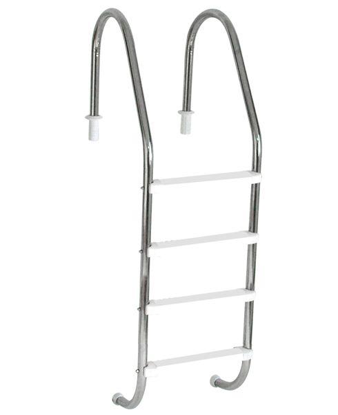 Escada Tradicional 1 1/2´´ em Aço Inox 4 Degraus Anatômicos em ABS