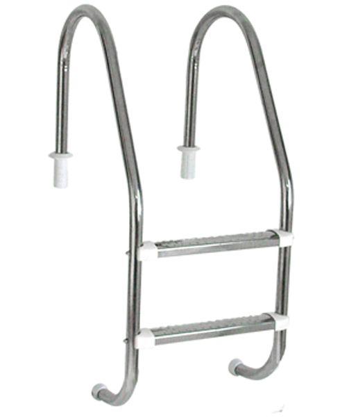 Escada Tradicional 1 1/2´´ em Aço Inox 2 Degraus Anatômicos em Inox