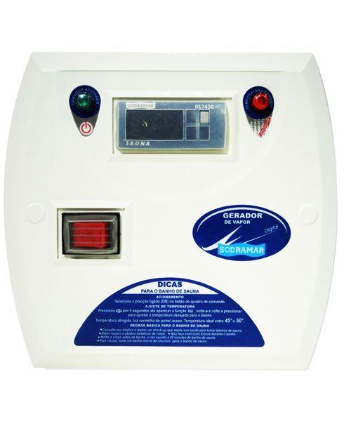 Comando Digital para Sauna a Vapor Universal e Steam Inox de 12 kw