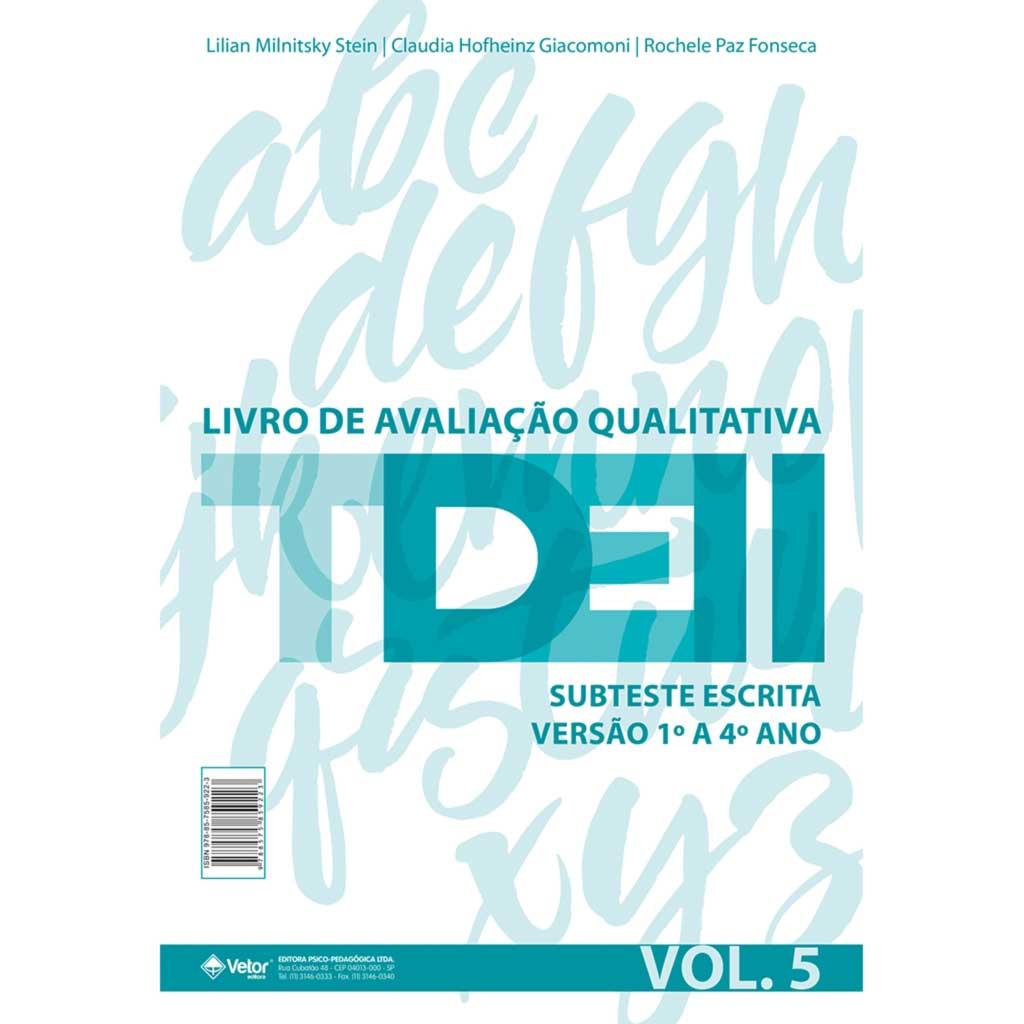 TDE II - Livro de Avaliação Qualitativa Subteste Escrita 1º ao 4ª ano