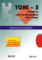 Toni-3 Livro de Instruções (Manual)
