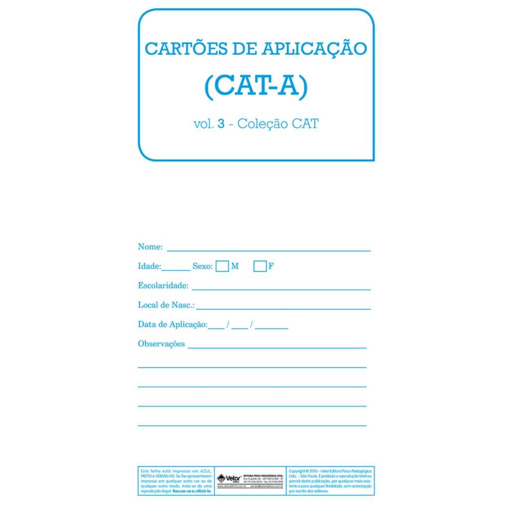 CAT-A Cartões de Aplicação