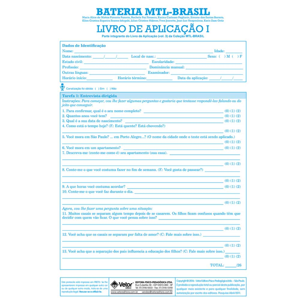 MTL - Livro de Aplicação I