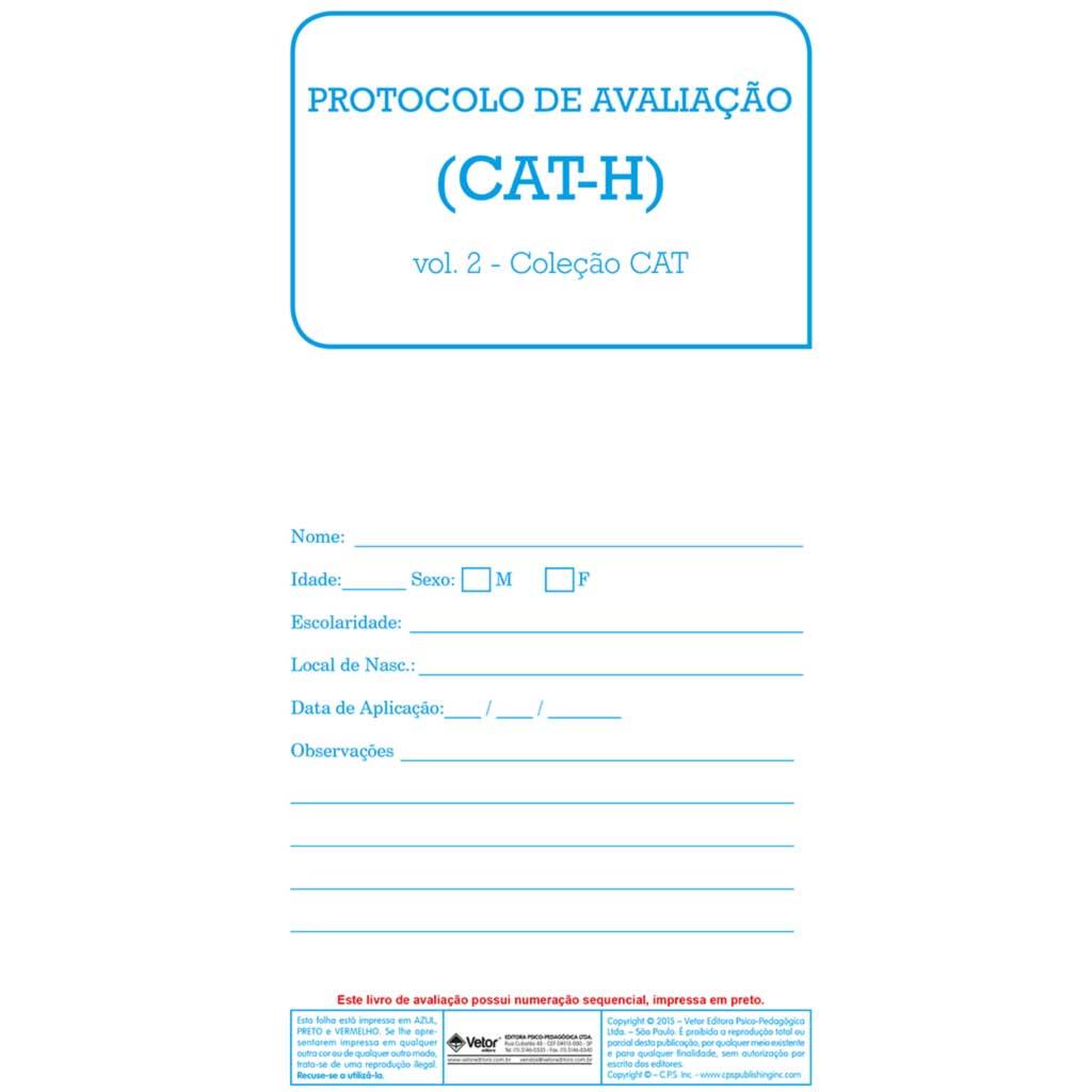 CAT-H - Livro de Avaliação