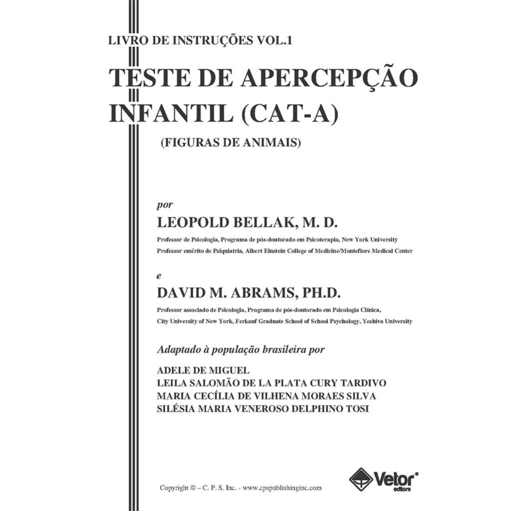CAT-A Livro de Instruções (Manual)