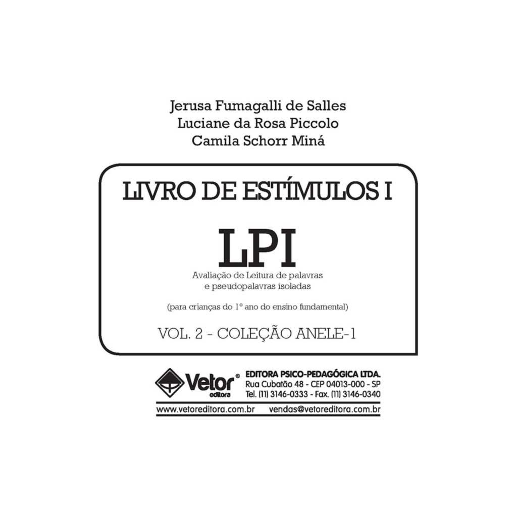 Anele 1 - LPI - Livro de Estímulos 1