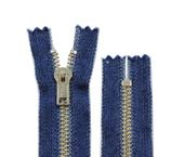Zíper de metal 05 grosso fixo niquelado jeans YKK ref. RNC 52 CJI14 c/ 1 un