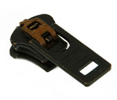 Cursor para zíper de metal 05 grosso YKK ref. 05 Y GSN6 V oxidado preto c/ 1 un