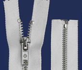 Zíper de metal 05 grosso destacável niquelado p/ tingir Coats ref. M58H 229 (NO 56M) c/ 1 un