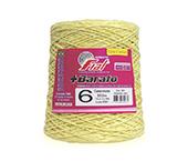 Barbante colorido Fial + Barato nº6 ref. amarelo claro c/ 512 m