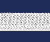 Elástico de embutir Tekla ref. Conde branco c/ 100 m