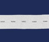 Elástico para casear de embutir 19 mm Zanotti ref. Aurata branco c/ 25 m