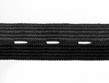 Elástico para casear de embutir 18 mm São José ref. Casear 4018 preto c/ 25 m