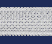 Elástico decorado 42 mm Elastan ref. Julia branco por metro