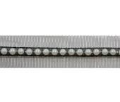 Tule com pérola 3 cm Porfírio ref. FLBN 3114-3 por metro