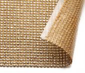 Manta termocolante de strass ouro com cristal porfirio ref. Y01 c/ 45,5 cm x 123 cm