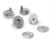 Botão magnético de latão 18,5 mm Eberle ref. BT8.185.10.L c/ 100 un