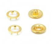 Botão de pressão latão dourado 10 mm Eberle ref. BT7.100.38.L DOUT c/ 200 un