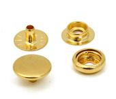 Botão de pressão latão dourado 13 mm Eberle ref. BT7.130.80.6.L DOUT c/ 200 un