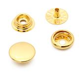 Botão de pressão latão dourado 15 mm Eberle ref. BT7.150.100.6.L DOUT c/ 200 un