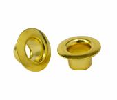 Ilhós de latão sem arruela dourado 04,5 mm Eberle ref. IL.100.045.050L DOU c/ 1000 un