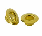 Ilhós de latão sem arruela dourado 06 mm Eberle ref. IL.120.060.050.L DOU c/ 1000 un