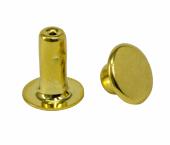 Rebite comum de latão dourado 08 mm Eberle ref. IC1.080.090.L DOU (2) c/ 1000 un