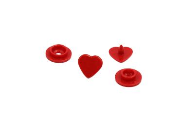 Botão de pressão plástico Ritas 10 coração c/ 200 un
