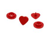 Botão de pressão plástico Ritas 10 coração c/ 50 un