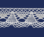 Renda de algodão 020 mm Paraíba ref. 403236 c/ 20 m